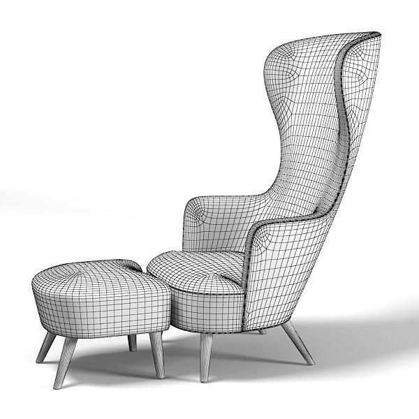 Radar 187 Tom Dixon Wingback Chair Wing Footstool Modern