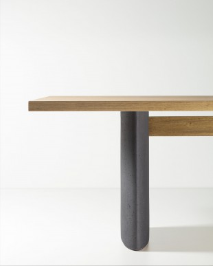 detail of Tal Table, design by Claudia Moreira Salles