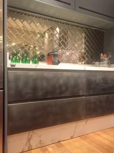 Pintura metalizada na cozinha